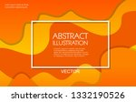 dynamic style orange wave... | Shutterstock .eps vector #1332190526