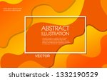 dynamic style orange wave... | Shutterstock .eps vector #1332190529