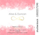 cute wedding invitation | Shutterstock .eps vector #1332217190