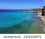 playa forti beach on cura ao | Shutterstock . vector #1332220973