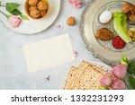 jewish holiday passover... | Shutterstock . vector #1332231293