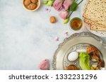 jewish holiday passover...   Shutterstock . vector #1332231296