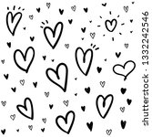 heart doodle texture background ... | Shutterstock .eps vector #1332242546