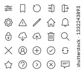 interface icons set  linear...   Shutterstock .eps vector #1332243893