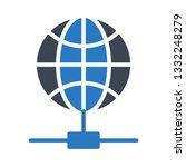 global network glyph double...   Shutterstock .eps vector #1332248279