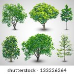realistic tree set with... | Shutterstock .eps vector #133226264