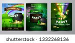 vector st. patrick s day poster ... | Shutterstock .eps vector #1332268136