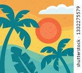 summer vacation paradise  ... | Shutterstock .eps vector #1332275579