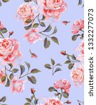 floral seamless pattern made of ... | Shutterstock . vector #1332277073