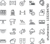 thin line icon set   fence...   Shutterstock .eps vector #1332284780