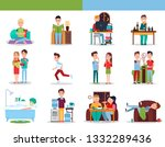 good and bad habits collection  ... | Shutterstock . vector #1332289436