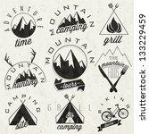 retro vintage style symbols for ...   Shutterstock .eps vector #133229459