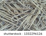 paper clips. background  a... | Shutterstock . vector #1332296126