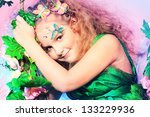 beautiful little fairy among... | Shutterstock . vector #133229936