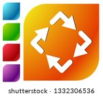 circular arrows icon  rotating... | Shutterstock .eps vector #1332306536