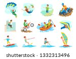 people leading active lifestyle ... | Shutterstock .eps vector #1332313496