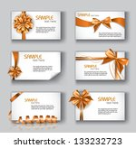 set of beautiful cards with... | Shutterstock .eps vector #133232723