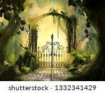 Archway in an enchanted garden...