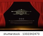 vector premium red curtains in... | Shutterstock .eps vector #1332342473