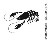 isolated object of lobster and... | Shutterstock .eps vector #1332353276