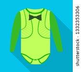 vector design of bodysuit and... | Shutterstock .eps vector #1332353306
