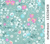 background,beauty,blue,bright,colorful,cute,daisy,delicate,design,ditsy,fabric,fashion,feminine,floral,garden