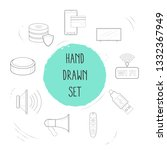 set of electronic icons line... | Shutterstock .eps vector #1332367949