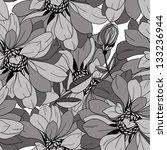 seamless monochrome pattern... | Shutterstock .eps vector #133236944