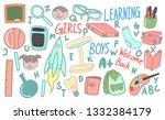 set of back to school doodles | Shutterstock .eps vector #1332384179