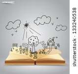 ,background,book open,cartoon,child,concept,creative,dad,daughter,diary,drawing,dream,eco,ecology concept,environment