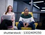 multiethnic startup business... | Shutterstock . vector #1332409250