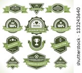 vintage labels and ribbons set. ... | Shutterstock .eps vector #133243640