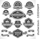 vintage labels and ribbons set. ... | Shutterstock .eps vector #133243649