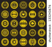 vintage style retro emblem... | Shutterstock .eps vector #133243676