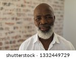 portrait of black senior man... | Shutterstock . vector #1332449729
