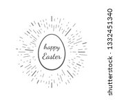 happy easter greeting card.... | Shutterstock .eps vector #1332451340