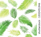 artistic palm seamless pattern. ...   Shutterstock .eps vector #1332451346