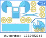 cut and glue a paper baby... | Shutterstock .eps vector #1332452366