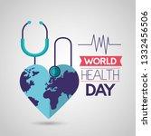 world health day | Shutterstock .eps vector #1332456506