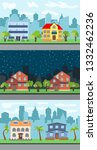 set of three illustrations of... | Shutterstock . vector #1332462236