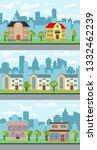 set of three illustrations of... | Shutterstock . vector #1332462239