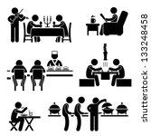 restaurant cafe food drink... | Shutterstock . vector #133248458