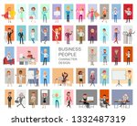 business people working... | Shutterstock .eps vector #1332487319