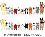 cats and dogs border set | Shutterstock .eps vector #1332497390