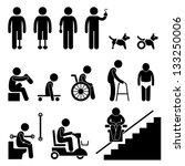 amputee handicap disable people ...   Shutterstock .eps vector #133250006