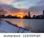 Sun Rising Behind Boston...