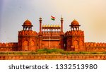red fort is a historic fort...   Shutterstock . vector #1332513980
