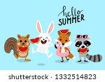 hello summer with cute little... | Shutterstock .eps vector #1332514823