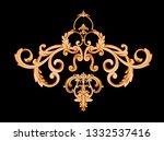 golden elements in baroque ... | Shutterstock . vector #1332537416