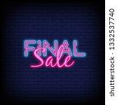 final sale concept banner in... | Shutterstock .eps vector #1332537740